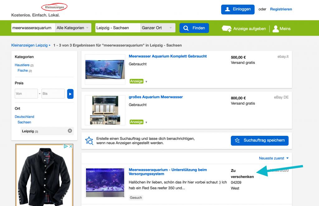 Meerwasseraquarium billig günstig